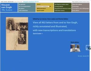 Van Gogh The Letters – L'à propos de l'édition numérique